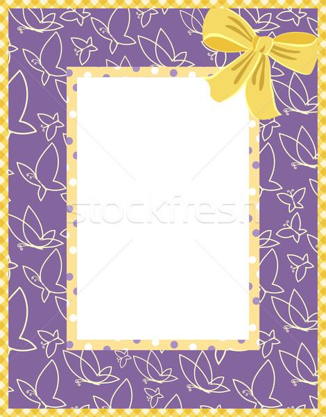 Kelebek dizayn doğum günü arka plan çerçeve Stok fotoğraf © khvost