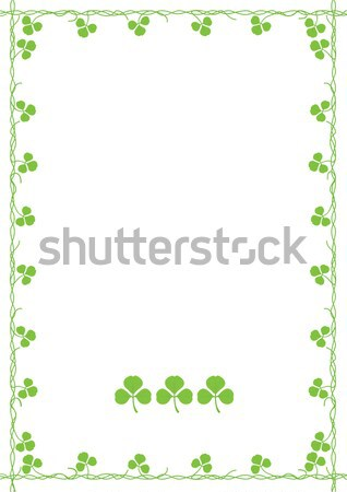 Yonca çim soyut yaprak yeşil beyaz Stok fotoğraf © khvost