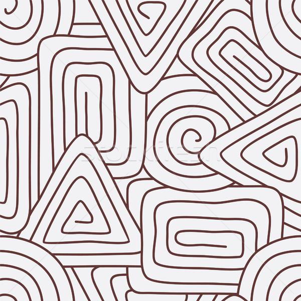 Geometrik soyut sanat kumaş güzel Stok fotoğraf © khvost
