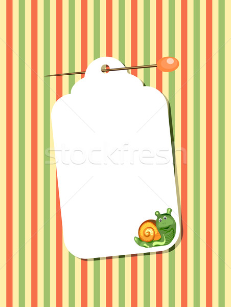 Carta bianca lumaca frame carta nastro nota Foto d'archivio © khvost