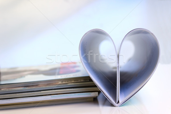 Stack of colorful magazines Stock photo © Kidza