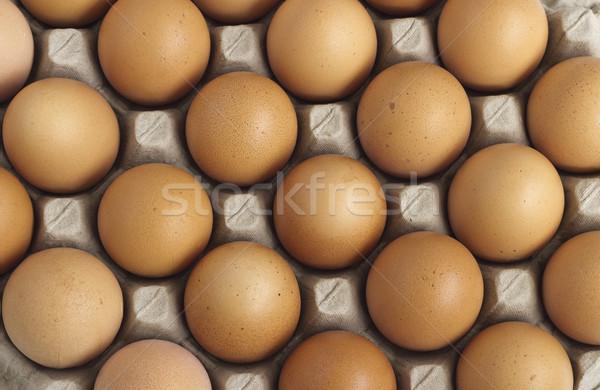 яйца группа свежие бумаги лоток Пасху Сток-фото © Kidza