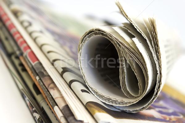 Boglya újság sekély papír kommunikáció sajtó Stock fotó © Kidza