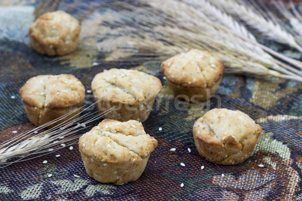 Házi készítésű süti szezámmag előételek szelektív fókusz asztal Stock fotó © Kidza