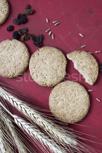 Cookie całość ziarna zboża zdrowych domowej roboty Zdjęcia stock © Kidza