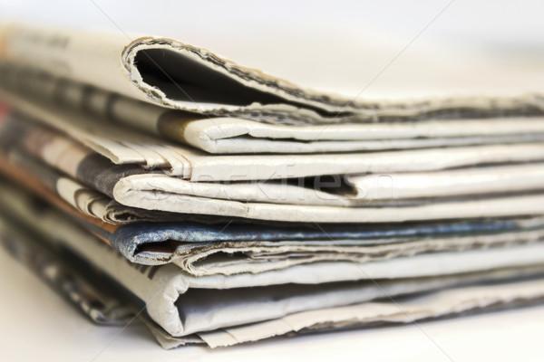 Newspaper stack Stock photo © Kidza