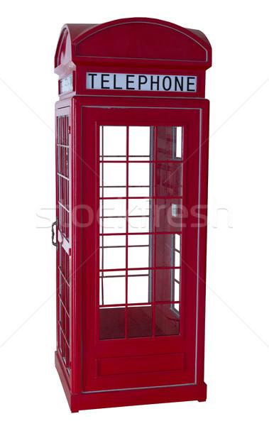Telefon czerwony telefonu zarówno odizolowany Zdjęcia stock © Kidza