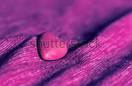 Piros szív rózsaszín vászon hazugságok klasszikus Stock fotó © Kidza