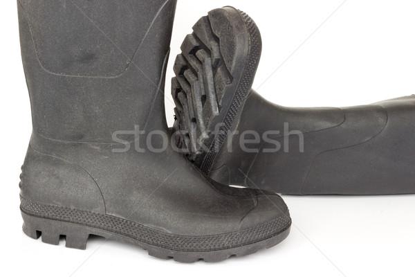 Beyaz ayakkabı siyah ayakkabı güvenlik Stok fotoğraf © Kidza