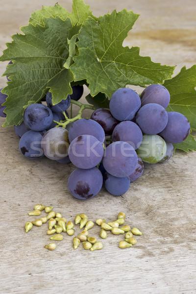 üzüm üzüm tohumları ahşap şarap doğa Stok fotoğraf © Kidza