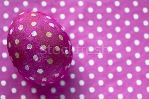 装飾された イースターエッグ クローズアップ ピンク 装飾 表 ストックフォト © Kidza