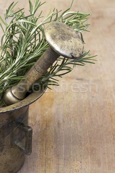 Alecrim fresco comida fundo cozinha tabela Foto stock © Kidza