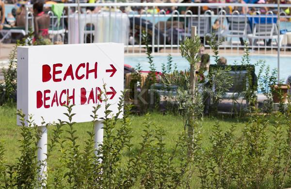 Plaj imzalamak yön yaz havuz sıcak Stok fotoğraf © Kidza