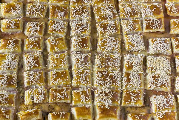 パイ ペストリー 食品 グループ 肉 デザート ストックフォト © Kidza