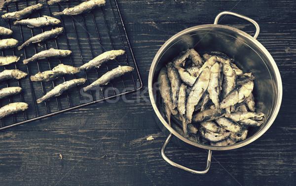 Preparado dieta frutos do mar nutrição Foto stock © Kidza