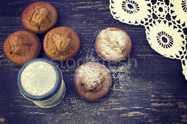 Chocolate muffins Stock photo © Kidza