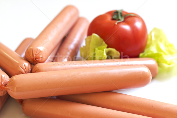 Raw hot dog Stock photo © Kidza