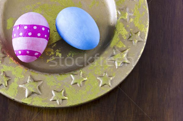 描いた イースターエッグ カラフル 装飾された 休日 イースター ストックフォト © Kidza