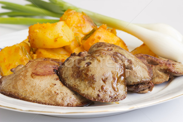 Fried liver Stock photo © Kidza