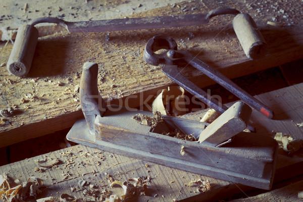 Old carpenter's tool Stock photo © Kidza