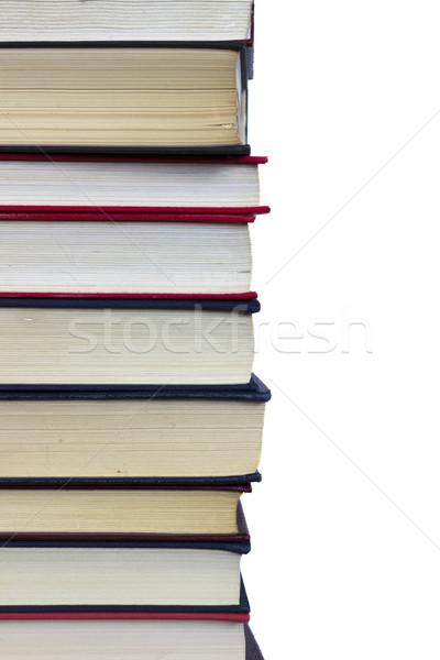 図書 スタック 白 図書 情報 ストックフォト © Kidza