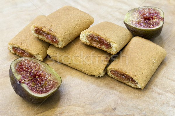 Rouler biscuit biscuits alimentaire Photo stock © Kidza