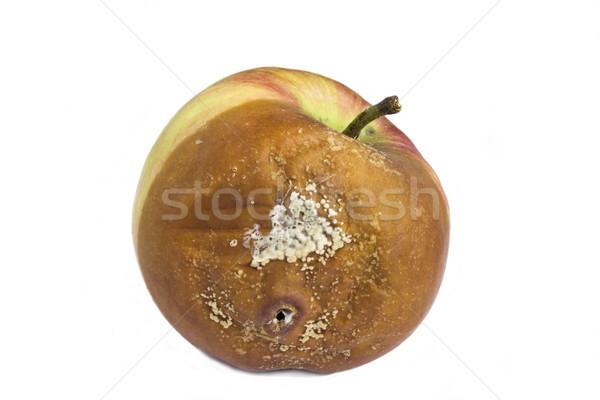 Marcio mela bianco alimentare frutta macro Foto d'archivio © Kidza