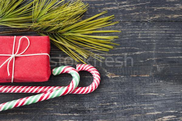 Karácsony idő dekoráció ajándékok élet ajándék Stock fotó © Kidza