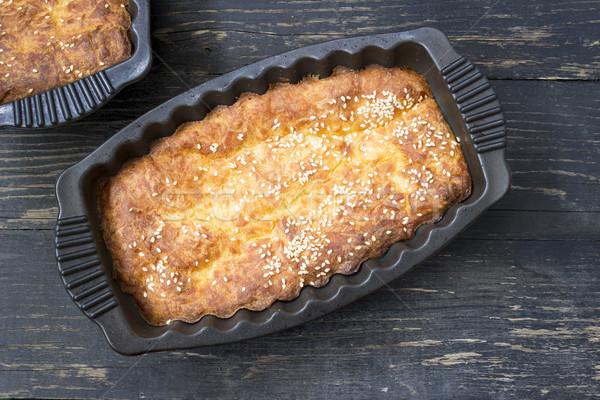 Ser pie górę widoku żywności ciasto Zdjęcia stock © Kidza