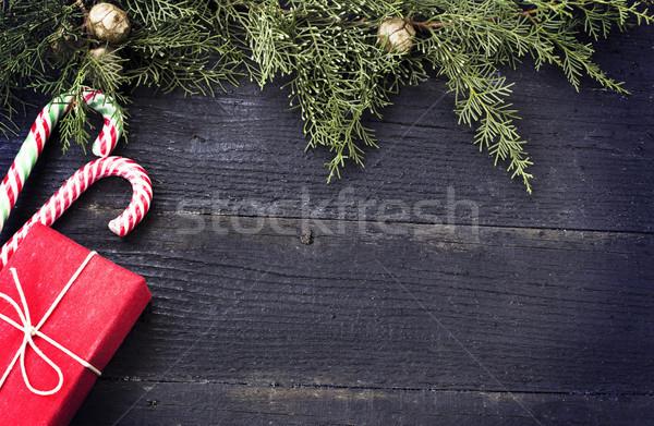 クリスマス 贈り物 キャンディ ツリー 背景 ストックフォト © Kidza