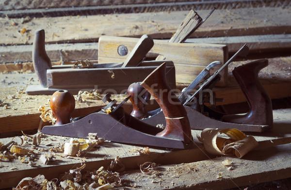 öreg repülőgép régi fa repülőgépek fából készült deszkák Stock fotó © Kidza