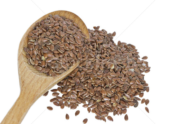 Flax seeds isolated on white background Stock photo © Kidza
