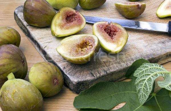 Healthy organic green figs  Stock photo © Kidza
