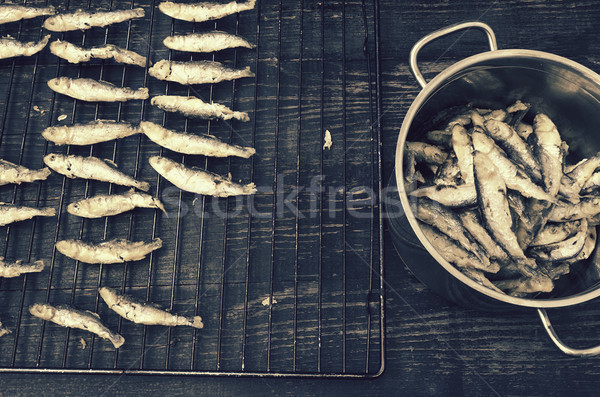 Geleneksel hazır yol gıda balık pot Stok fotoğraf © Kidza