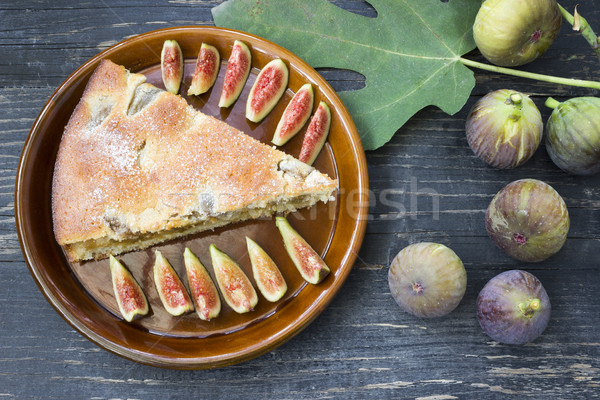 Pasta taze hazır ahşap meyve kek Stok fotoğraf © Kidza