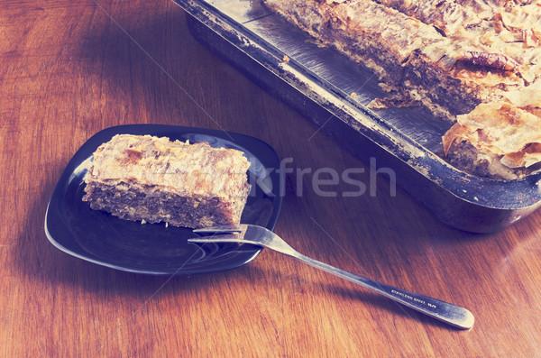 Pie with nuts Stock photo © Kidza