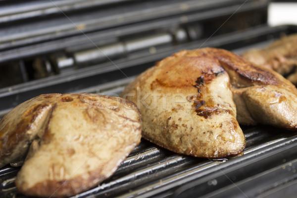 Karaciğer taze ızgara gıda yemek yemek Stok fotoğraf © Kidza
