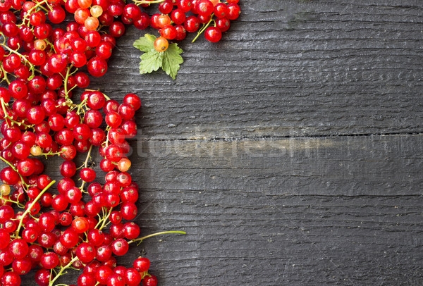 Redcurrants with leaves Stock photo © Kidza