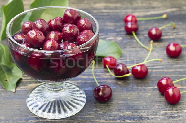 Homemade cherry compote Stock photo © Kidza