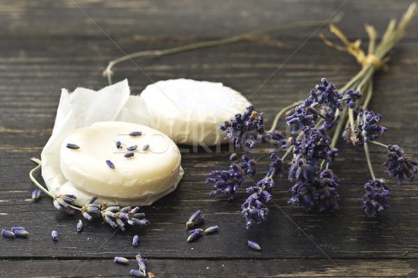 Lavendel zeep natuurlijke bloem Stockfoto © Kidza