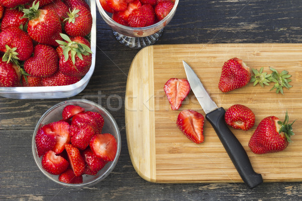 Fresh picked strawberries Stock photo © Kidza