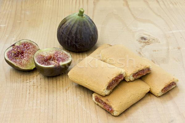 Zdjęcia stock: Figa · deser · cookie · żywności · ciasto