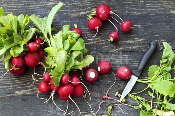 Friss piros retek organikus megnőtt természet Stock fotó © Kidza