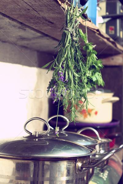 Keuken kruiden utility kamer vintage retro Stockfoto © Kidza