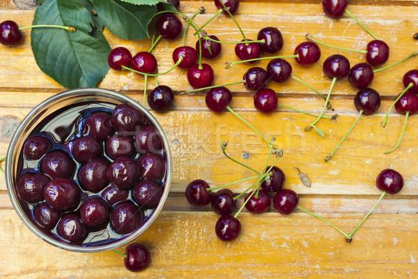 Compote of cherries Stock photo © Kidza