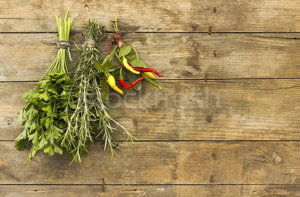 пряный травы подвесной букет свежие Сток-фото © Kidza