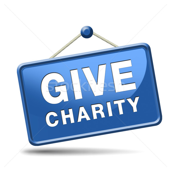 Geven liefdadigheid knop schenken geld helpen Stockfoto © kikkerdirk