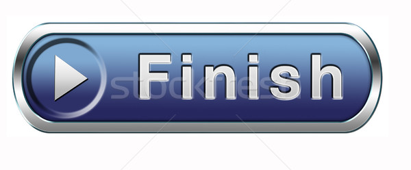 finish button Stock photo © kikkerdirk