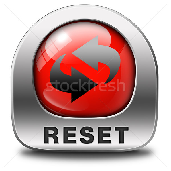 reset icon Stock photo © kikkerdirk