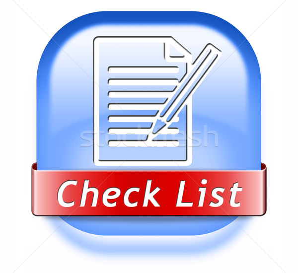 check list button Stock photo © kikkerdirk